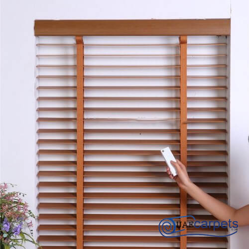 electric wooden blinds