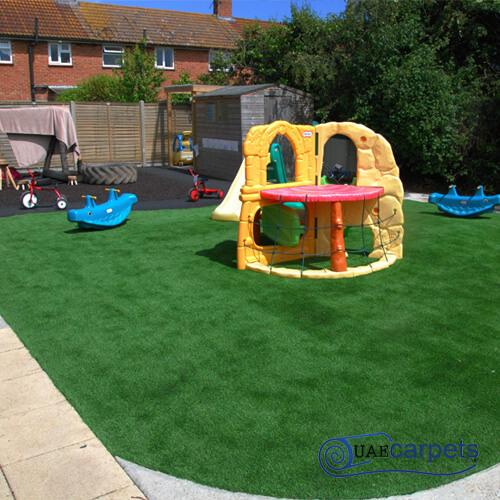 fake grass for playground