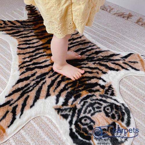 fake tiger rug