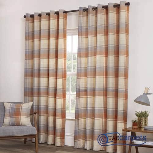 grey eyelet curtains