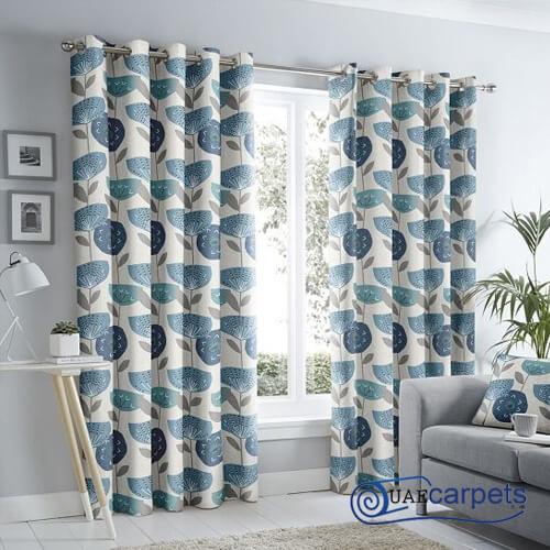 navy eyelet curtains