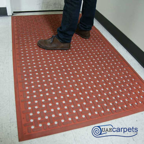 rubber mats with holes