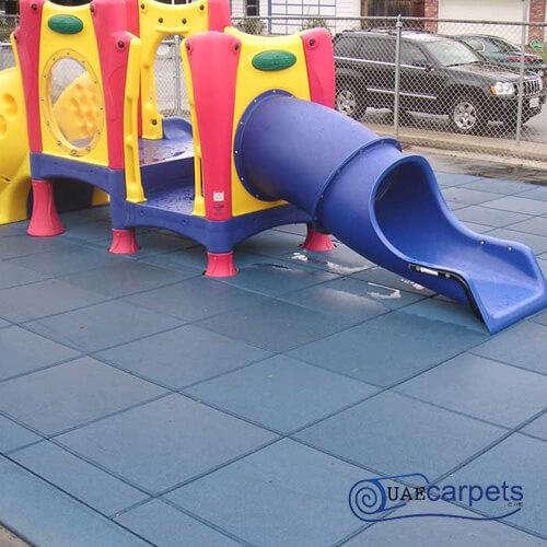 rubber play tiles