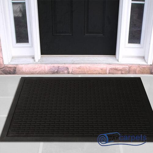 rubber scraper door mat
