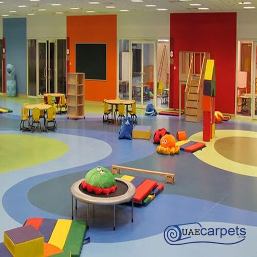 vinyl flooring used in schools
