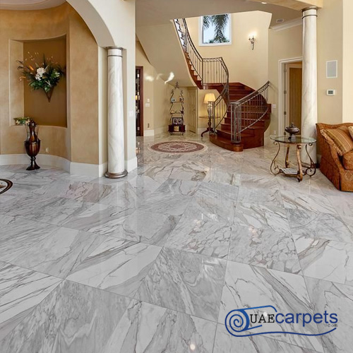 white granite flooring