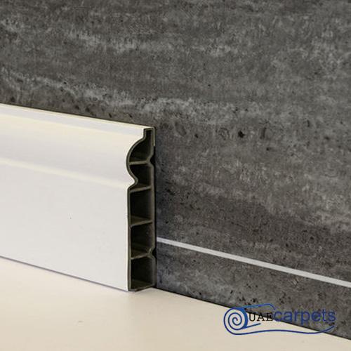 white pvc skirting board