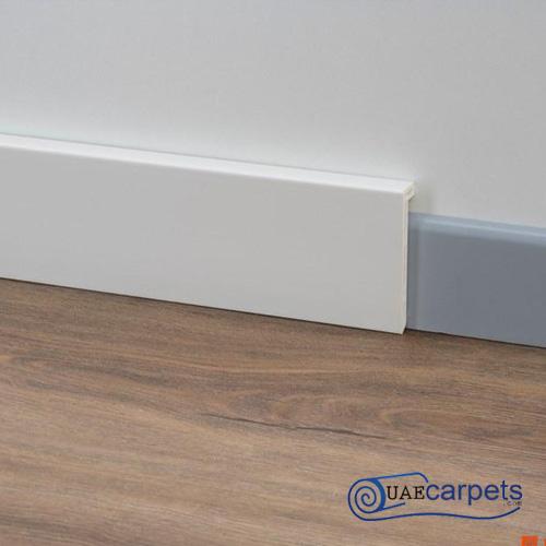 white walls grey skirting