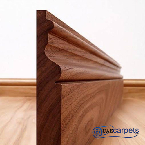wooden floor skirting board