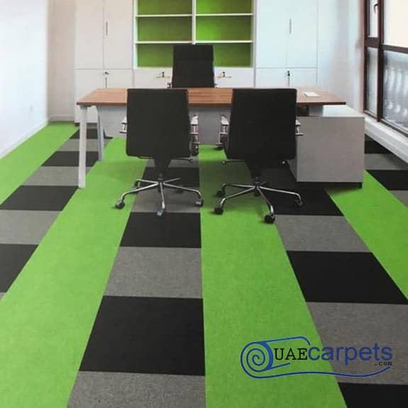 Office-Green-Carpet-Tiles