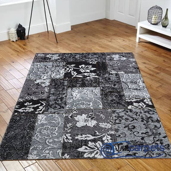 Patch-Work-Black-Rugs