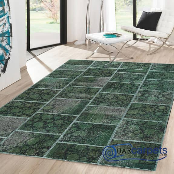 Patch-Work-Green-Rugs